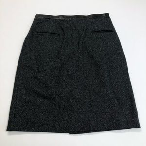 Rebecca Taylor Black Tweed Pencil Skirt Size 2